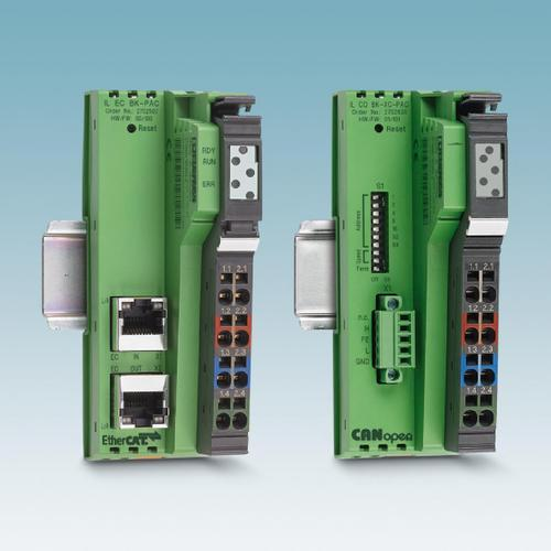 Narrow bus couplers for compact I/O stations